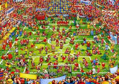 daft football jigsaw puzzle by educa, soccer puzzle, difficult puzz, buffalo daftfootball