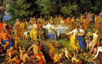 feast of the gods jigsaw puzzle, hendrik van balen, 5000 pieces, painting educa puzzles feastofthegods