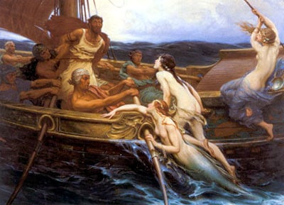 ulysses and the sirens by herbert draper, paintings and art, painting  greek hero ulyssesthesirens