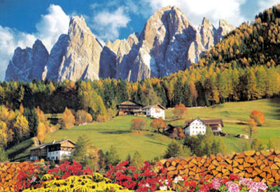 villnoss valley, educa puzzle, 6000 pieces of a beautiful scenery villnossvalley