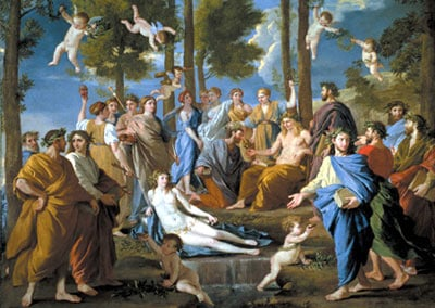 le parnasse painting by poussin, jigsaw puzzle by educa leparnasse