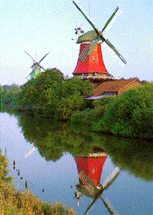 Windmills photograph by Educa Sallent made in Spain 1000 piece jigsaw puzzle windmills-educa