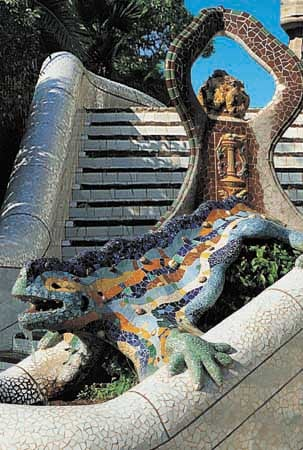 Gaudi Park Guell in Barcelona Spain educa puzzle # 11916 worlds smallest puzzle series gaudi-park-guell-miniature-puzzle
