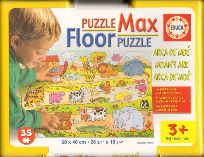 floor puzzle with giant pieces made by educa. Noah's Ark 35 piece jigsaw puzzle # 12771 noahs-ark-giant-floor-puzzle-kids