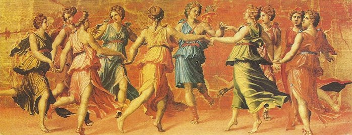 Dance of Apollo with the Muses painted by Giulio Romano Educa made in Spain 1000 piece jigsaw puzzle dance-of-apollo-with-the-muses