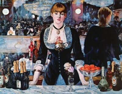 A Bar at the Folies painted by Bergeres, Manet Educa made in Spain 1000 piece jigsaw puzzle a-bar-at-the-folies-bergere