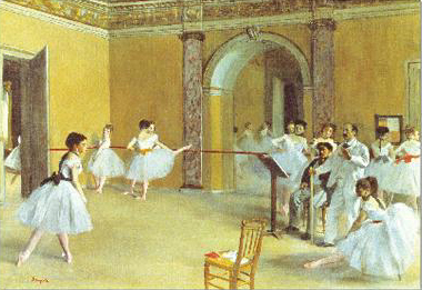 Dance Foyer at the Opera on the Rue la Peletier by Edgar Degas educa 1000 piece jigsaw puzzle dance-foyer-at-the-opera-on-rue-le-peletier