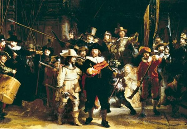 Night Watch painted by Rembrandt Educa made in Spain 1000 piece jigsaw puzzle night-watch-rembrandt-educa-1000