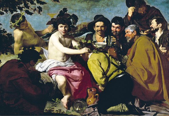 The Drunkards painted by Velazquez Educa made in Spain 1000 piece jigsaw puzzle drunkards-velazquez-educa