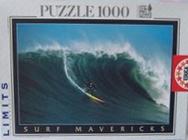 surf mavericks jigsaw puzzle, surfer riding a big wave, jigsaw puzzle by educa surf-mavericks