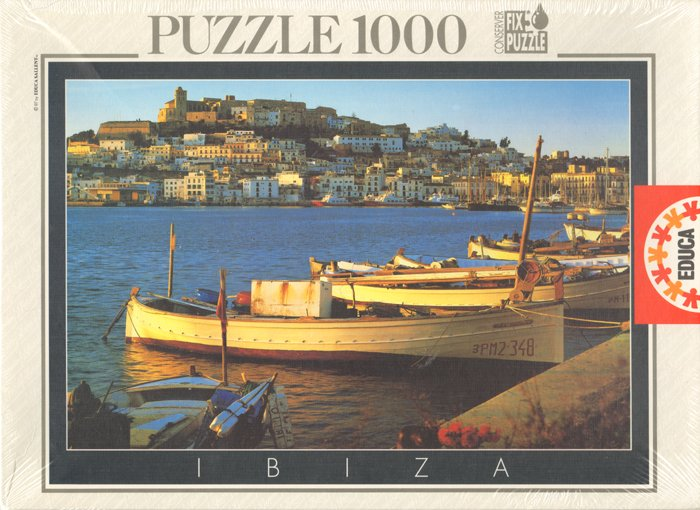 Ibiza Balearic Islands photograph by educa 1000 piece jigsaw puzzle ibiza-balearic-islands-educa