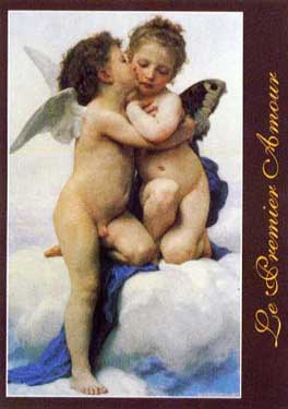 Le Premier Amour painted by Adolphe William Bouguereau Educa made in Spain 1000 piece jigsaw puzzle premier-amour-educa