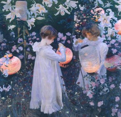carnationa lily rose Artist j.s. sargent educa puzzle # 7371 square puzzle series carnation-lily-rose-sargent