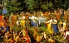 feast of the gods jigsaw puzzle, hendrik van balen, 5000 pieces, painting educa puzzles