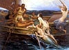 ulyssesthesirens,ulysses and the sirens by herbert draper, paintings and art, painting  greek hero