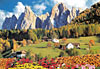 villnossvalley,villnoss valley, educa puzzle, 6000 pieces of a beautiful scenery