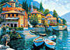 lakecomolanding,lake como landing jigsaw puzzle by educa, landscape jigsaw puzzle