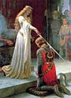theaccolade,educa jigsaw puzzle, the accolade painting by leighton