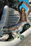 Gaudi Park Guell in Barcelona Spain educa puzzle # 11916 worlds smallest puzzle series