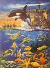 Water Ballet painting of undersea life by educa made in spain 1000 piece jigsaw puzzle