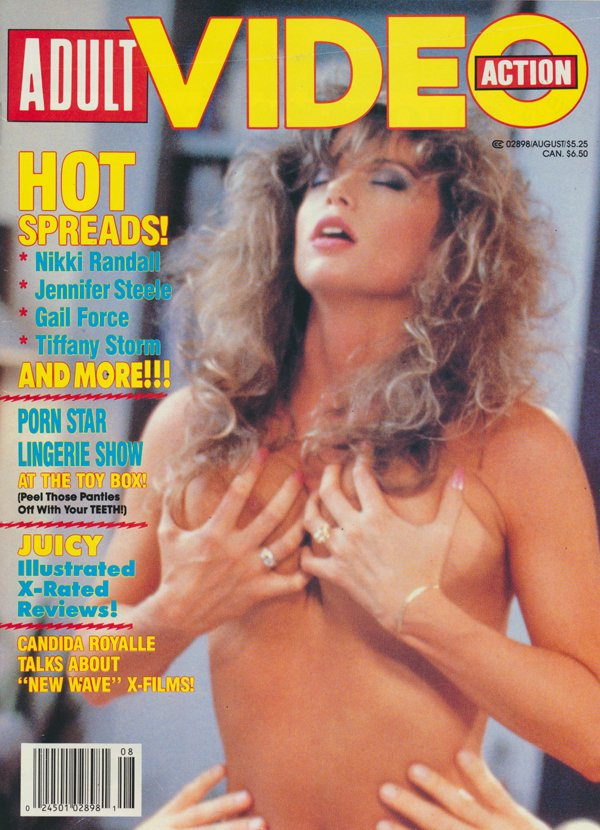 Erotic X Film Guide Presents August 1989 Adult Video Action Magazine Back Issue Erotic