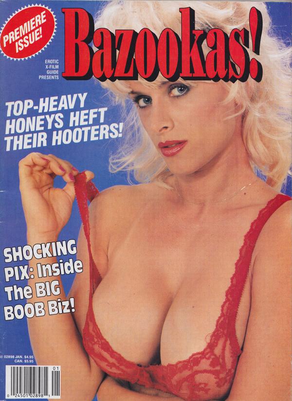 Erotic X-Film Guide Presents January 1992 - Bazookas magazine back issue Erotic X-Film Guide Presents magizine back copy Shocking Pix: Inside the Big Boob Biz,Top-Heavy Honeys Heft Their Hooters,Bawdie,MELISSA MOUNDS