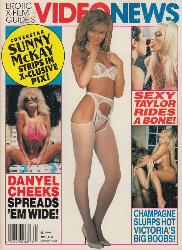 Erotic X-Film Guide Video News May 1993 magazine back issue Erotic X-Film Guide Video News magizine back copy sunny mckay exclusive pix sexy taylor rdes a bone champagne slurps hot victoria boob danyel cheeks s