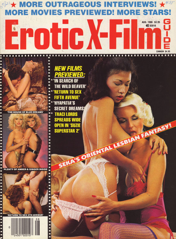 Erotic X-Film Guide August 1986 magazine back issue Erotic X-Film Guide magizine back copy erotic x-film guide 86 back issues skin flick review previews xxx photos traci lords porn movie pics