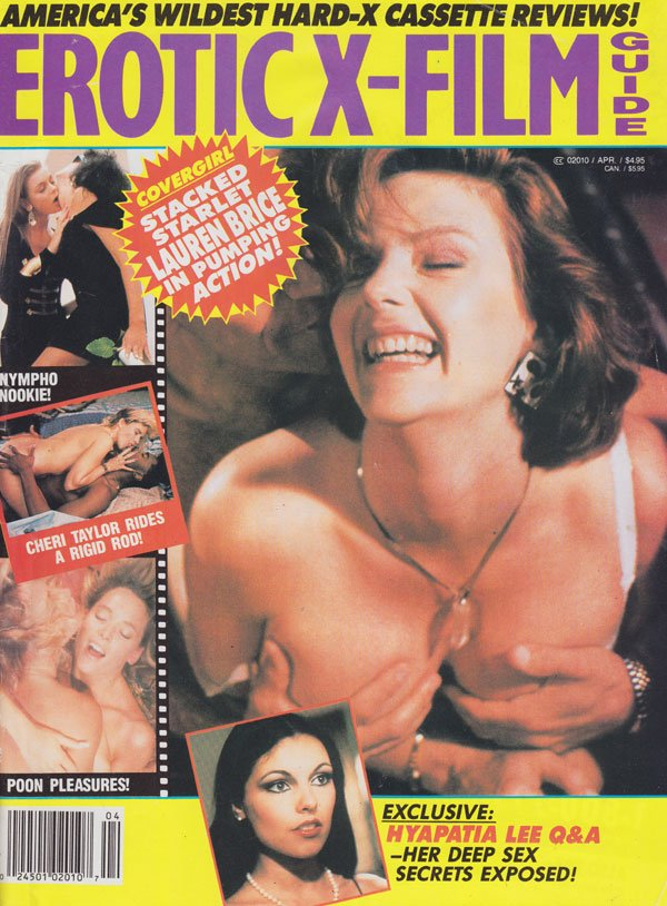 Erotic X-Film Guide April 1991 magazine back issue Erotic X-Film Guide magizine back copy erotic x-film guide magazine 1991 back issues hottest porn stars naked nymphos poon pleasures review