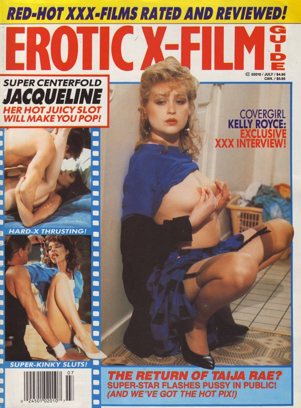 Erotic X-Film Guide July 1991 magazine back issue Erotic X-Film Guide magizine back copy 1991 back issues of erotic xfilm gguide hottest pornstars 90s xxx pix naughty babes all horny tight