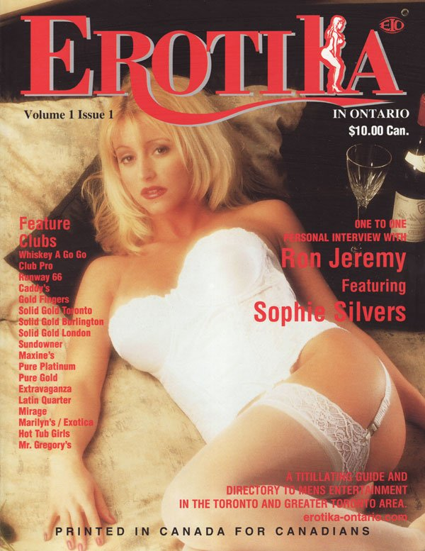 Erotika Vol. 1 # 1 magazine back issue Erotika magizine back copy ron jeremy sophie silvers one to one personal interview a titillating guideanddirectory to mens ente