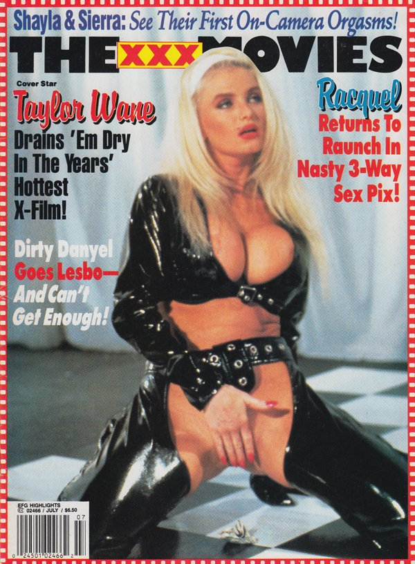 Erotic X-Film Guide Highlights July 1994 - The XXX Movies magazine back issue Erotic X-Film Guide Highlights magizine back copy racuqel aunch nasty 3 way piz taylor wane drains em dry in years hottest x film dir danyel goes lesb
