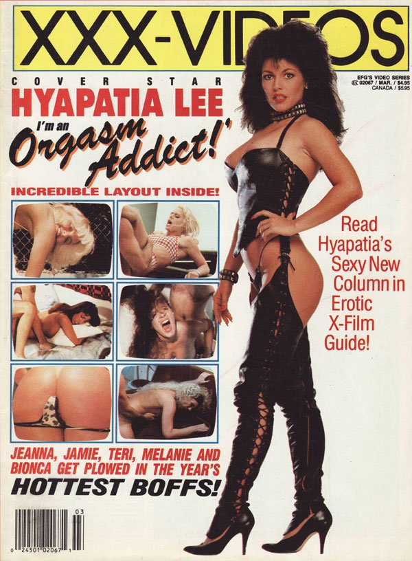 Erotic X-Film Guide Video Series March 1993 magazine back issue Erotic X-Film Guide Video Series magizine back copy Hyapatia Lee increadible Jeannafine Ashlyn Gere Julia Parton Laurel hottest fucks plowed bionca teri