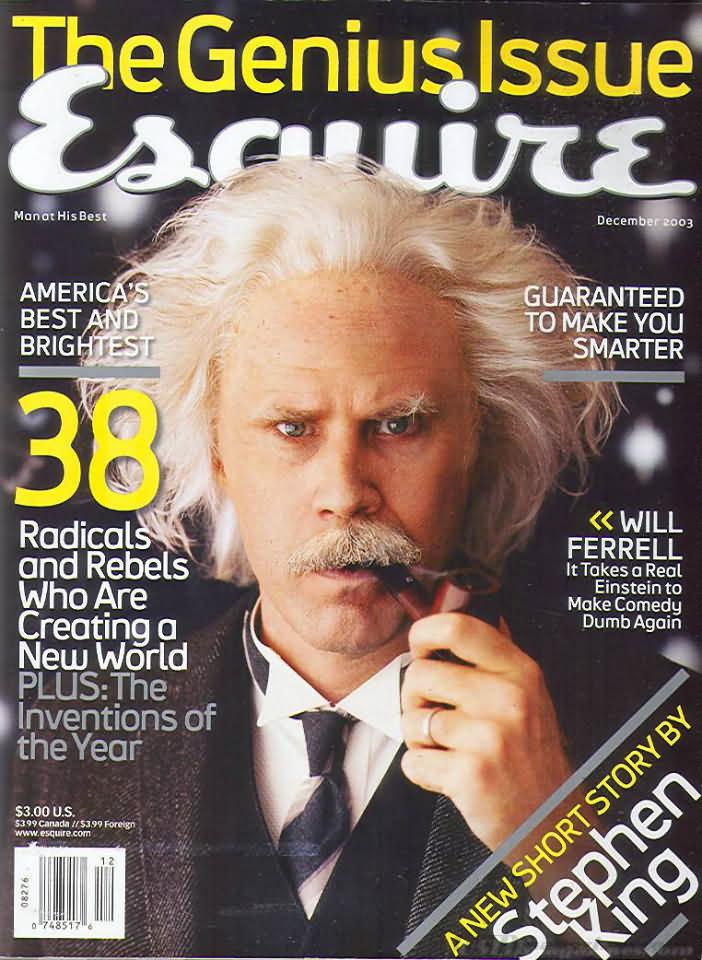 Esquire December 2003 Magazine Back Issue Esquire WonderClub