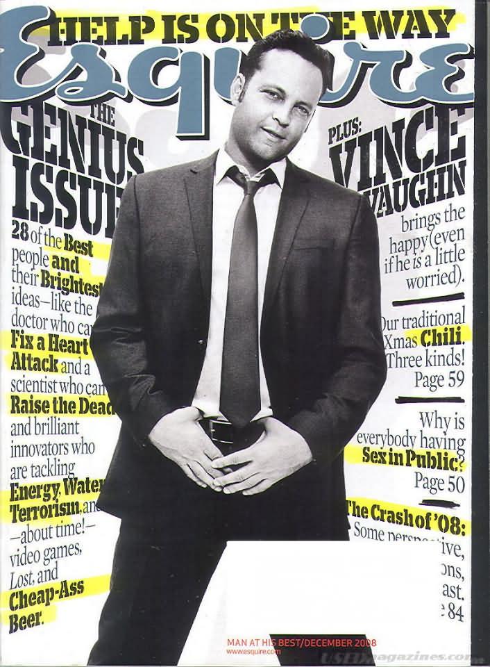 Esquire December 2008 Magazine Back Issue Esquire WonderClub