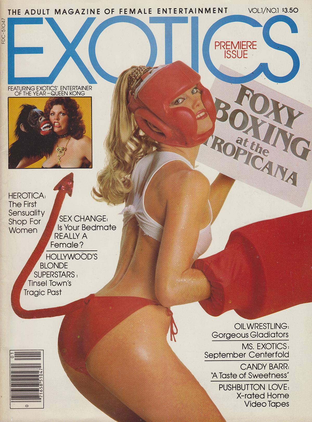 Exotics Vol. 1 # 1 magazine back issue Exotics magizine back copy