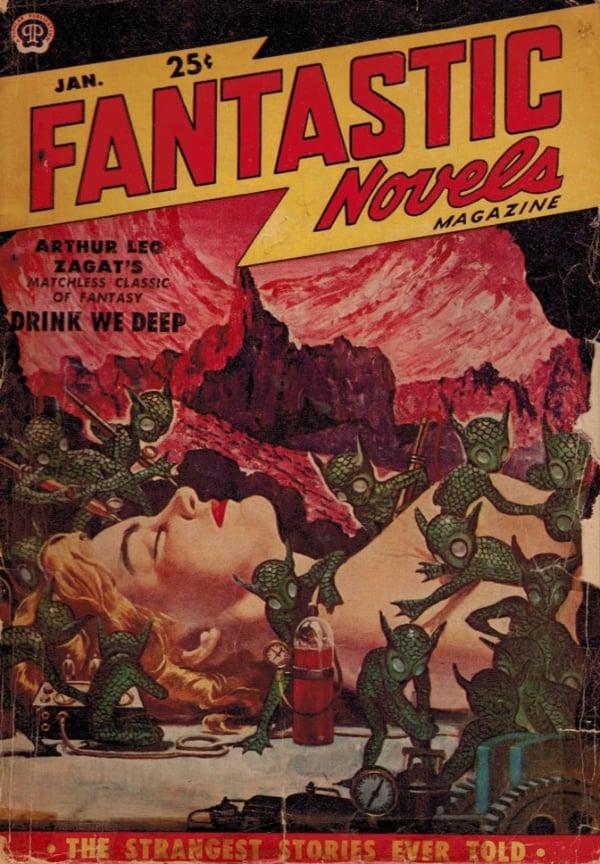Fantastic Novels January 1951 magazine back issue Fantastic Novels magizine back copy