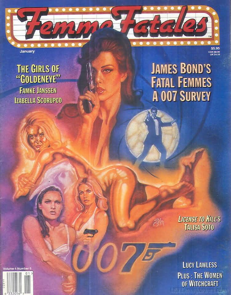 Femme Fatales Vol. 4 # 5 magazine back issue Femme Fatales magizine back copy