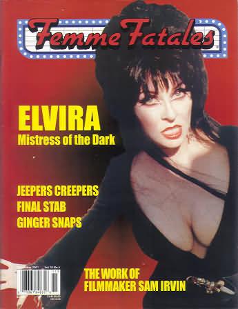 Femme Fatales Vol. 10 # 5 magazine back issue Femme Fatales magizine back copy