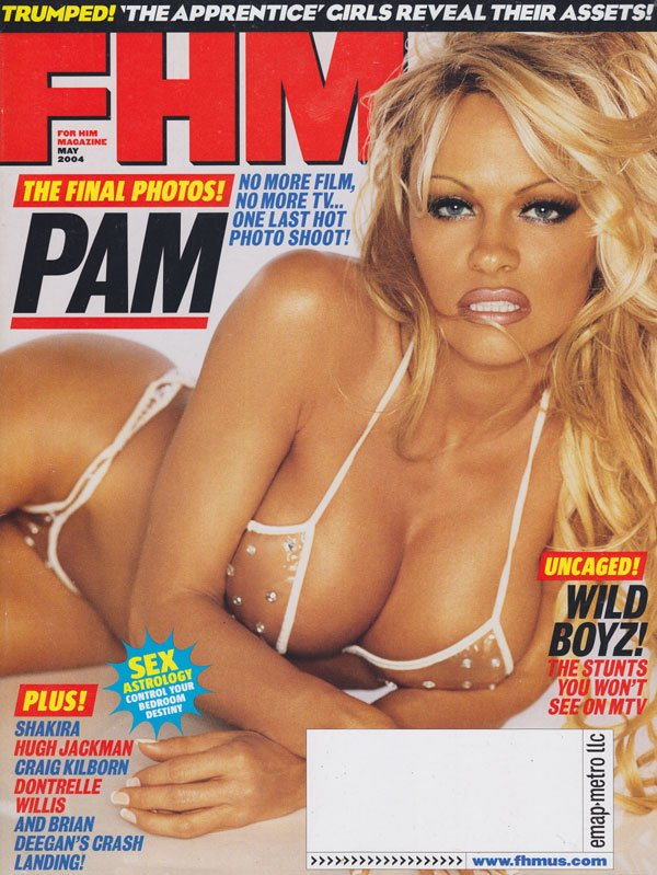 FHM # 44 - May 2004 magazine back issue FHM (For Him Magazine) magizine back copy for him magazine fhm 2004 back issues pamela anderson covergirl wild boyz stunts sexy  almost nude s