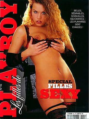 Les Filles de Playboy # 16 magazine back issue Filles de Playboy magizine back copy