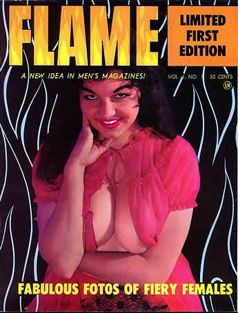 Flame Vol. 1 # 1 magazine back issue Flame magizine back copy