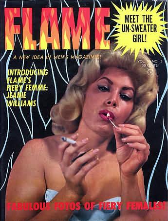 Flame Vol. 1 # 3 magazine back issue Flame magizine back copy