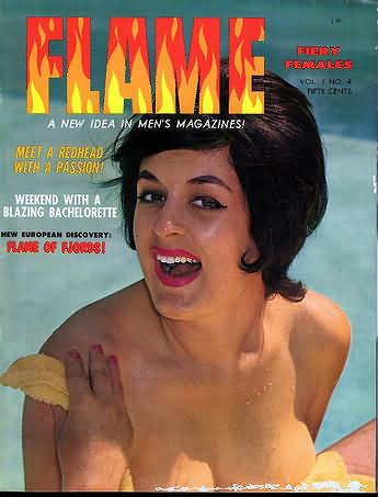 Flame Vol. 1 # 4 magazine back issue Flame magizine back copy