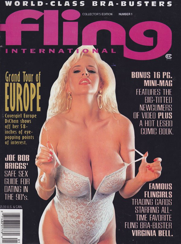 Fling # 1 - Spring 1995 magazine back issue Fling magizine back copy fling international 1995 back issues hottest bra-busters top heavy babes newcummers erotic xxx pics