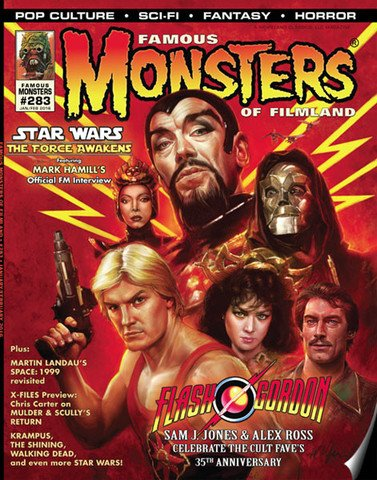 Famous Monsters of Filmland # 283 - Alternate Cover magazine back issue Famous Monsters of Filmland magizine back copy