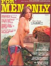 For Men Only March 1975 magazine back issue cover image