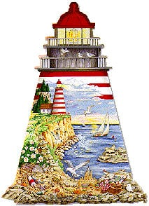 lighthouse shaped puzzle, fx schmidt jigsaw puzzle 1000 pieces theguidinglight