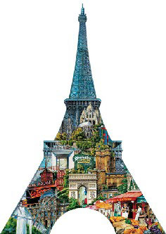 eiffel tower shaped jigsaw puzzle by gerold como with fx schmid 1000 pieces eiffeltowercomo