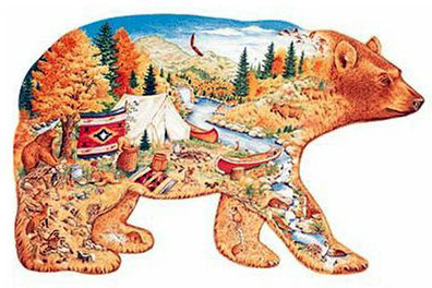 bear country fx schmid puzzle, bear puzzle, 1000 pieces jigsaw shaped puzzle bearcountry